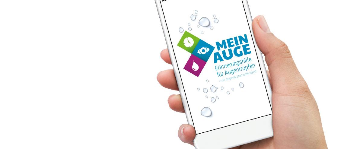 Darstellung der Augentropfen-App MEIN AUGE